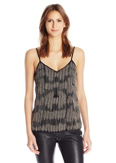 Haute Hippie Women's Cami with Beaded Fringe  XS