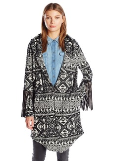 Haute Hippie Women's Coat with Leather Fringe  M