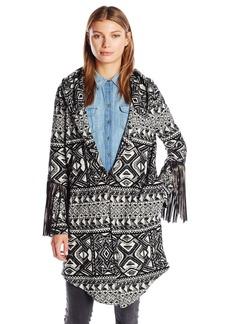 Haute Hippie Women's Coat with Leather Fringe  M