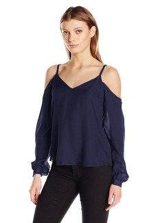 Haute Hippie Women's Crossroads Cold Shoulder Blouse  XS