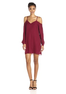 Haute Hippie Women's Crossroads Cold Shoulder Dress  S