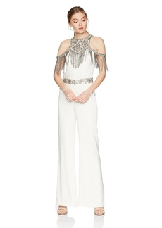 Haute Hippie Women's Devere Embellished Jumpsuit swan