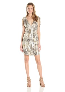 Haute Hippie Women's Easy Silk Dress with Tunnel at Shoulders  S