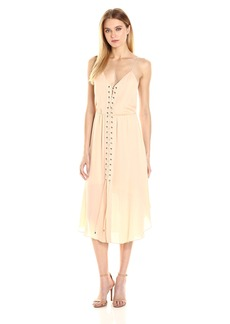 Haute Hippie Women's Front Lace up Dress  M