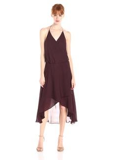 Haute Hippie Women's Halter Wrap Dress with Hi Low Hem