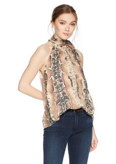 Haute Hippie Women's Hold up Neck Tie Blouse  Extra Small