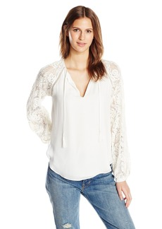 Haute Hippie Women's Lace Combo Top  M