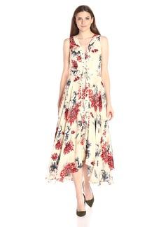 Haute Hippie Women's Lace up Midi Dress  S