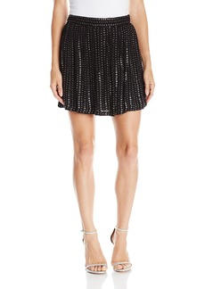 Haute Hippie Women's Leather Sequin Skirt