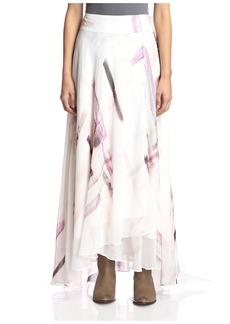Haute Hippie Women's Long Printed Skirt  M