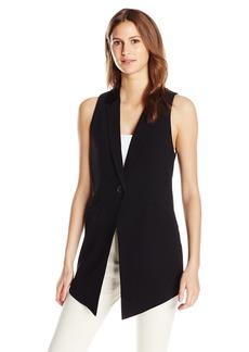 Haute Hippie Women's Midi Length Vest with Side Button Deatils