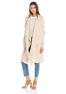 Haute Hippie Women's Overlay Flare Trench Coat  L