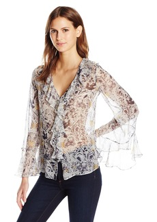 Haute Hippie Women's Romeo + Juliet Blouse Printed  M