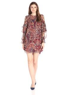 Haute Hippie Women's Ruffle Dress  L