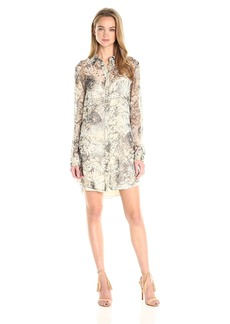 Haute Hippie Women's The Jungle Shirt Dress Camo XS