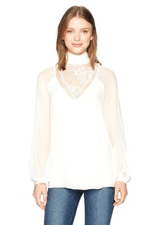 Haute Hippie Women's Through The Looking Glass Blouse swan M