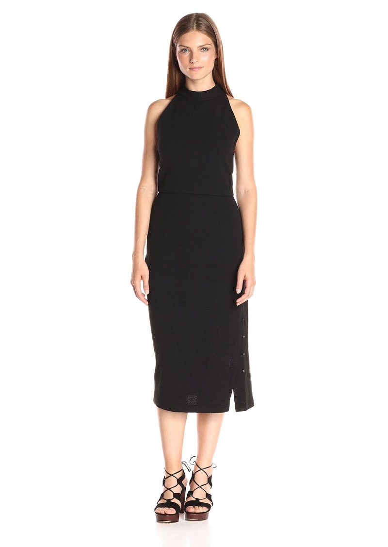 Haute Hippie Women's Turtleneck S/L Knee Length Gown  M
