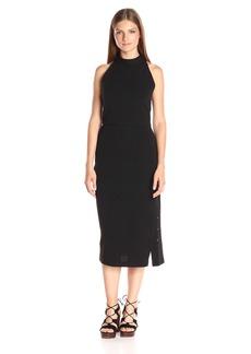 Haute Hippie Women's Turtleneck S/L Knee Length Gown  S