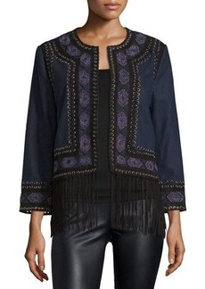 Haute Hippie Wool Lacing Embellished Coat