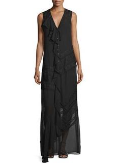 Haute Hippie Woven Sleeveless Button-Front Dress