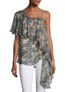 Haute Hippie Your Girl Asymmetric Floral Silk Dress