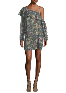 Haute Hippie Your Girl Asymmetric Floral Silk Dress