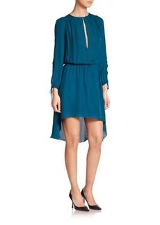 Haute Hippie Keyhole Silk Dress