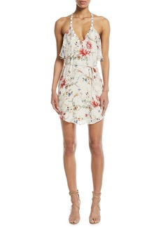 5fd40629fc1 Haute Hippie Narrow Escape V-Neck Sleeveless Floral-Print Silk Dress