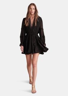 Haute Hippie Lynne Smocked Waist Mini Dress