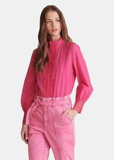 Haute Hippie Amina Button Down Lace Shirt