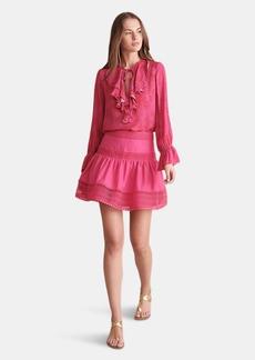 Haute Hippie Catherine Lace Trimmed Mini Skirt