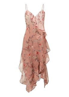 Haute Hippie Rose Ruffle Midi Dress