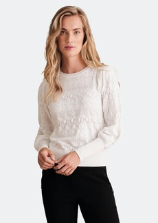 Haute Hippie Erika Pointelle Puff Sleeve Sweater - XL - Also in: M, L