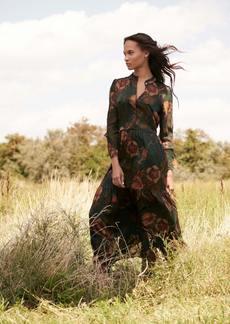 Haute Hippie Lauren Floral Maxi Dress