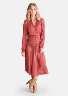 Haute Hippie Leslie Smocked Waist Mid Length Skirt