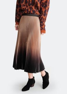 Haute Hippie Dee Pleated Black/Gold Ombre Skirt