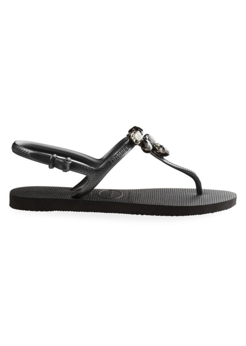Havaianas Freedom Capri III Crystal-Embellished Sandals