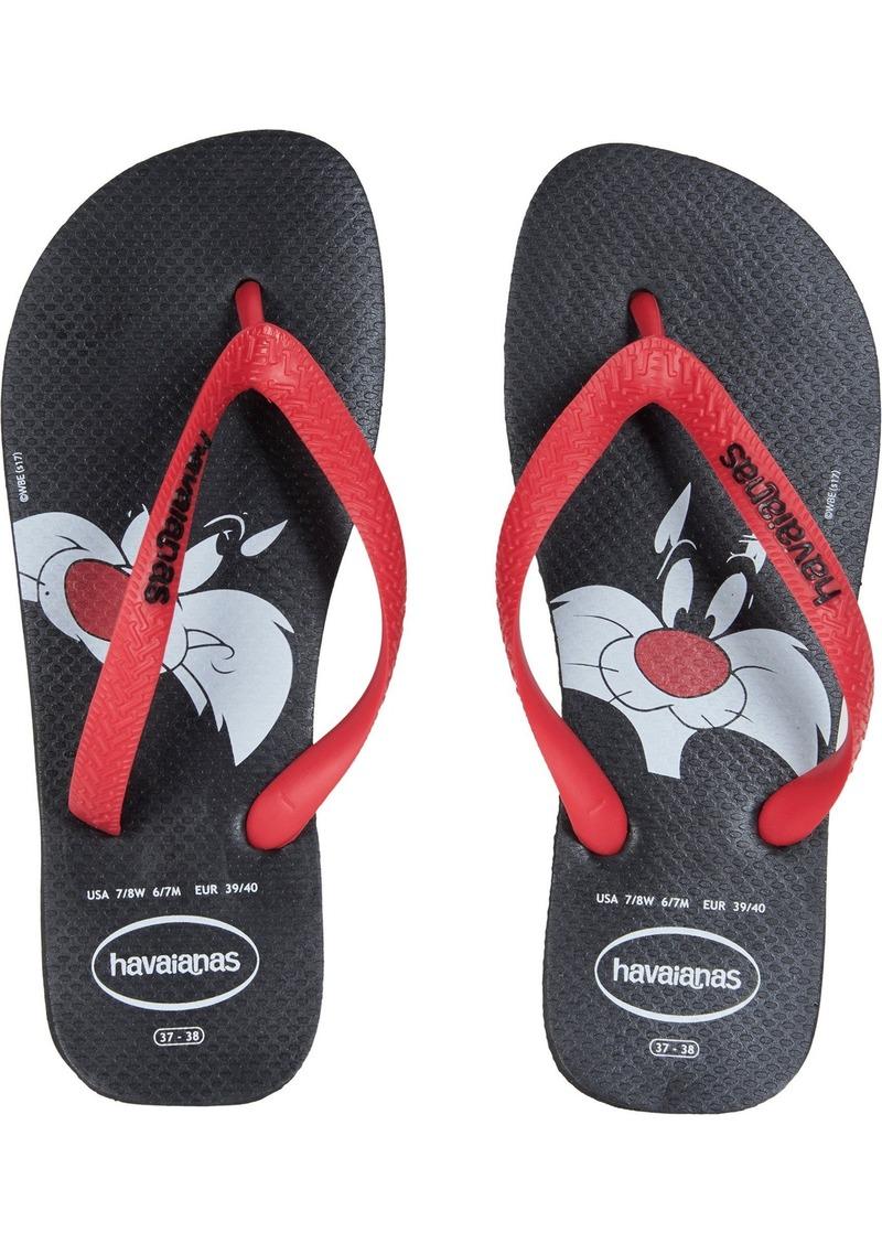 Havaianas Looney Tunes Sandal Black/RED ((11-12 M US Women's / 9-10 M US Men's)