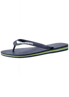 Havaianas Men's Brazil Logo Flip Flop Sandal  39/40 BR (9-10 M Women's /  M US Men's)