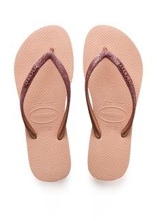 Havaianas Slim Glitter Flip Flop (Toddler & Little Kid)
