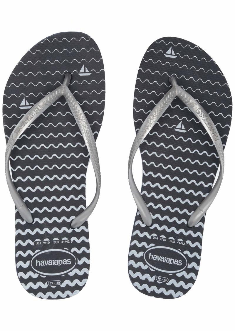 Havaianas Slim Oceano Flip Flop Sandal  (9-10 M US Women's / 8 M US Men's)