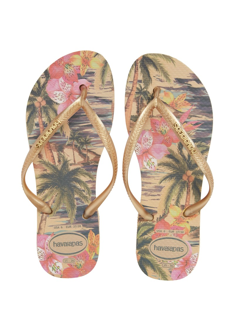 bbfeb0788 Havaianas Havaianas  Slim Tropical  Flip Flop (Women)