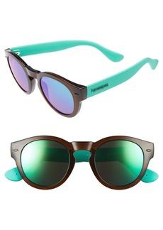 Havaianas Trancoso 49mm Mirrored Round Sunglasses
