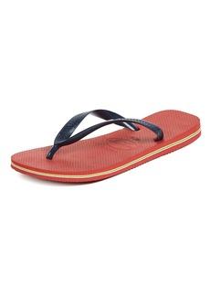 Havaianas Women's Brazil Logo Flip Flop Sandal  5/6 M US