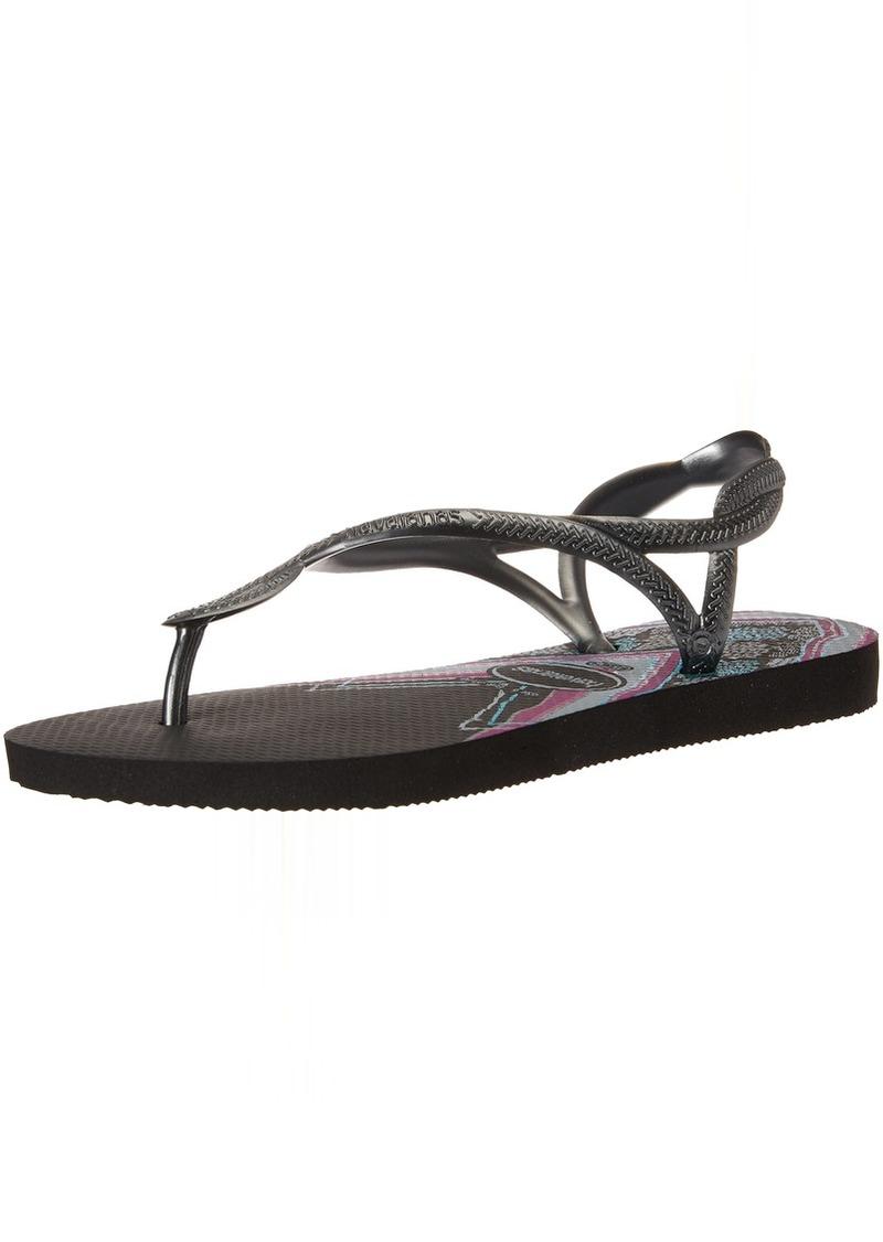 Havaianas Women's Luna Print Flip Flop Sandal 41/42 BR(11-12 M US Women's / 9-10 M US Men's)