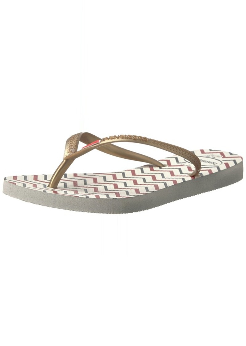 Havaianas Women's Slim Americana Flip Flop Sandal 37/38 BR(7-8 M US Women's / 6-7 M US Men's)