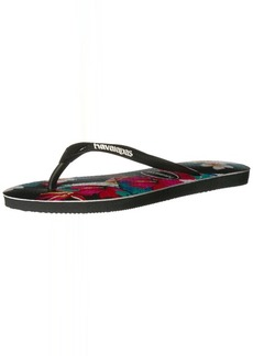 Havaianas Women's Slim Flip Flop Sandals Tropical Floral