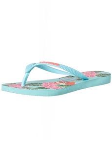 Havaianas Women's Slim Floral Flip Flop Sandal 37/38 BR( M US Women's / 6-7 M US Men's)