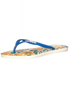 Havaianas Women's Slim Floral Sandal Flip Flop  35 BR/6 W US