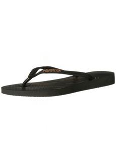 Havaianas Women's Slim Logo Metallic Fine Lines Flip Flop Sandal 39/40 BR(9-10 M US Women's / 8 M US Men's)